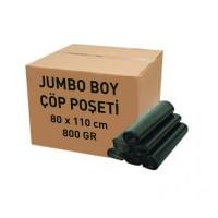 Endüstriyel jumbo boy çöp poşeti 80 x 110 cm (800 gr)